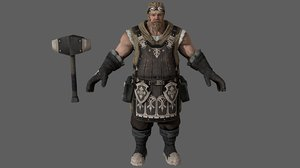 3D ready blacksmith character model