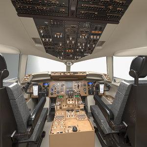3D boeing 757 200 cockpit