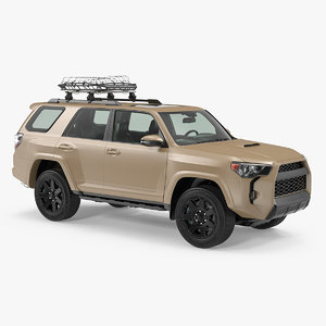 suv 4x4 roof basket 3D model