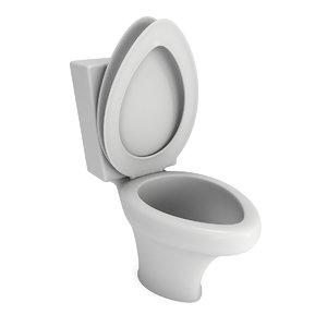 ceramic toilet bowl bathroom object 3D