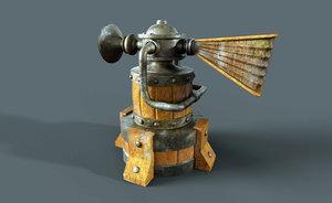 renders scene 3D model