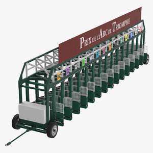 horse racing starting gates 3D