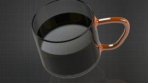 3D glass designed parts model