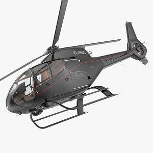 3D eurocopter ec120 colibri rigged