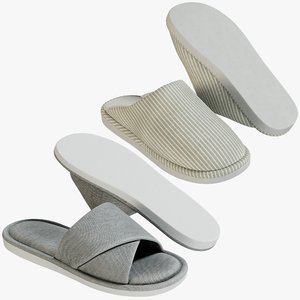 realistic shoes 30 slippers 3D model