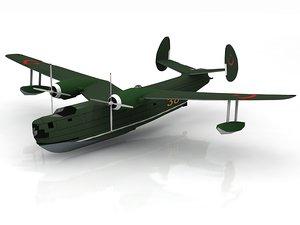 beriev floatplane aircraft hydro 3D model