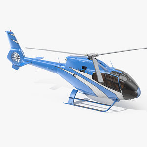 executive lightweight helicopter rigged 3D model