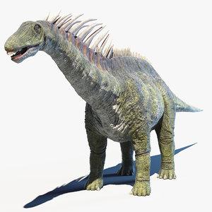3D amargasaurus model