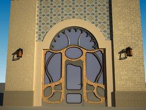 3D entrance door