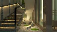 Stairwell  modern style 3D Model scene