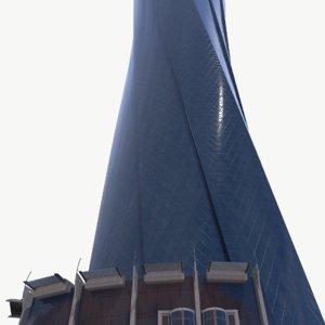 al bidda tower real-time 3D model