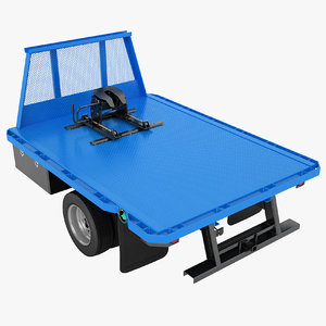 flatbed dump truck 3D