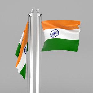 3D india flag model