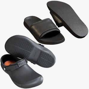 3D realistic shoes 31 flops