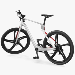3D carbon electric road bike model