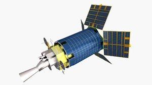 3D satellite spacecraft