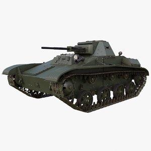 3D tank t 60 soviet model