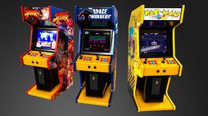 arcade machines 3D model