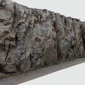 scan cliff wall rock 3D model