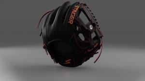 baseball glove black 3D model
