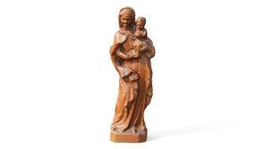 - carved wood model