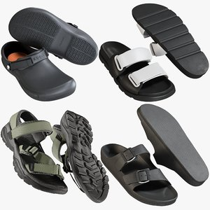 3D realistic shoes 32 sandals model