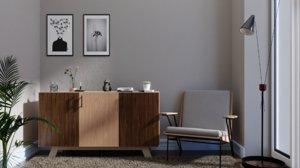 living room furniture 3D model
