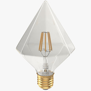 diamond shape filament led light 3D model