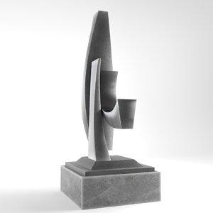 modern decorative abstract metal 3D