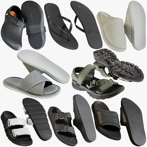 3D realistic shoes 34 slippers