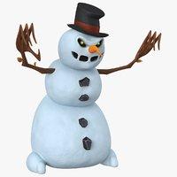 Cartoon Snowman Angry PBR
