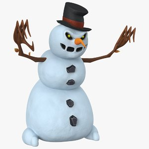 snowman angry 3D