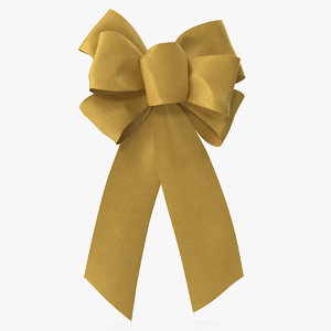 3D gold bow