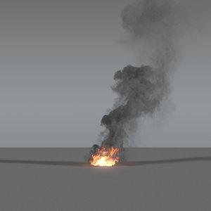 smoke column 04 vdb 3D model