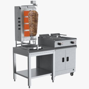 real doner machine 3D