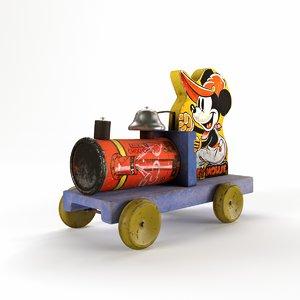 mickey mouse choo-choo 1938 3D model