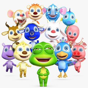 cartoon animation character 3D