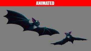 3D cartoon bat animations pack