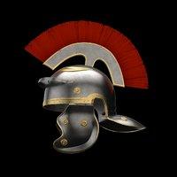Roman legionnaire helmet Low-poly 3D model