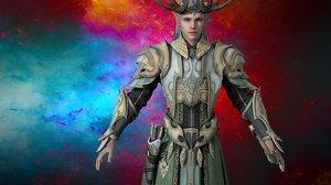 3D model egypt warrior character