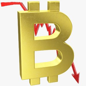 graph bitcoin symbol 3D