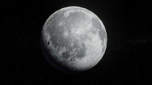 3D model photorealistic moon 2k