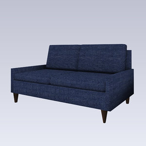 Jeans sofa 3D model Lowpoly