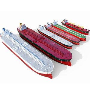 3D tanker pack ships model