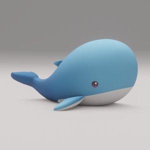 plush whale 3D