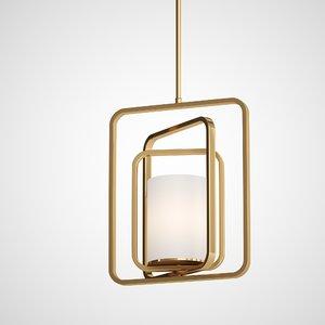 3D rubi hanging lamp