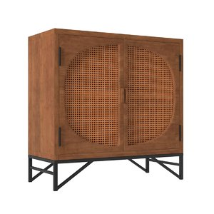 woven cane cupboard model