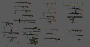 3D ww2 weapon