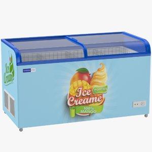supermarket ice cream freezer 3D model