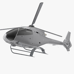 3D model lightweight helicopter simple interior light